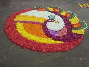 Onam Attractive Onam Pookalam Designs For Harvesting Festival In Kannada
